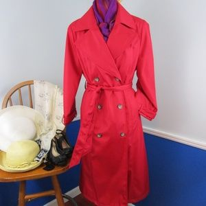 ☔Host Pick☔ Vintage Red Full Length Rain Coat
